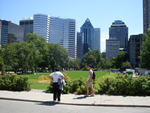 Downtown Montreal - Downtown of Montreal, seen from McGill University