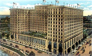 Drake Hotel (Chicago) - Newly opened Drake Hotel in a 1920 picture postcard