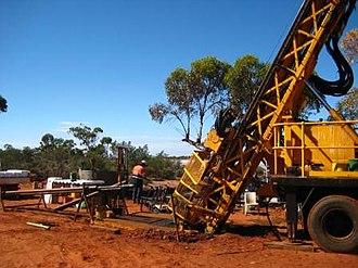 Randalls Gold Mine - A drill rig at the Salt Creek deposit
