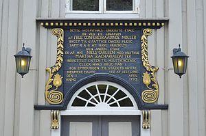Niels Carlsen -  Drøbak Hospital built in 1793