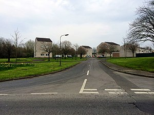 Craigavon - Drumgor Heights, showing the Modernist housing design once common in Craigavon