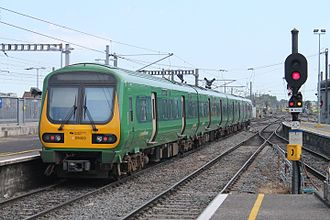 Diesel multiple unit - An IE 29000 Class Diesel Multiple Unit on a western commuter service at Connolly Rail Station.