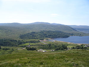 Dunlewey - The lough and ruined church