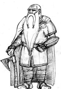 A modern depiction of a dwarf