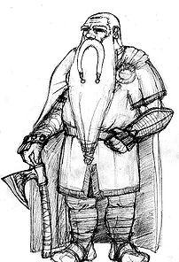 A modern depiction of a dwarf