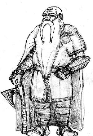 Dwarf (Middle-earth) - An illustration of a Middle-earth dwarf.