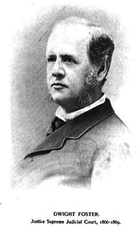 Dwight Foster (1828–1884) American judge