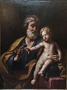 Elisabetta Sirani (Bologna 1638-1665) San Giuseppe col bambino Gesù c. 1662