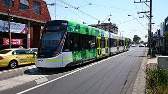 Brunswick East, Victoria - E 6005 tram at East Brunswick on route 96