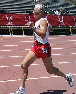Earl Fee - Earl Fee at the 2010 USATF Masters Championships in Sacramento, California