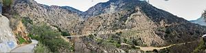 Eaton Canyon - Eaton Canyon, view to the east from Pinecrest Drive