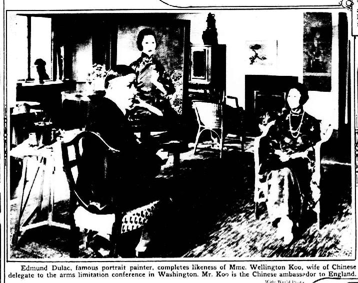 Edmund Dulac newspaper photo