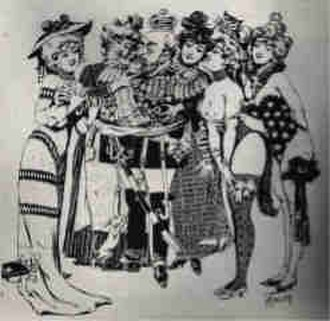 Le Chabanais - Caricature of Edward VII in Le Chabanais, published 1903 in L'indiscret