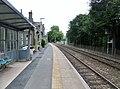 Eggesford railway station, Tarka Line, South Devon - down platform.jpg