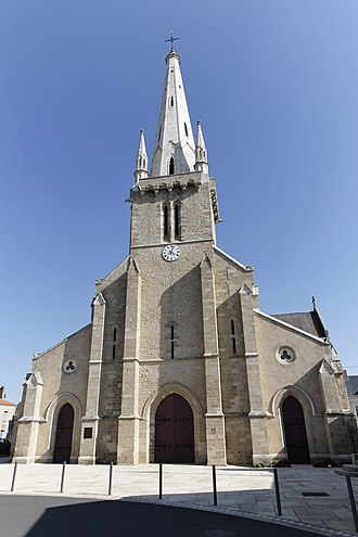 Bouin, Vendée - The church of Our Lady, in Bouin