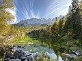 Eibsee im Herbst. Blickrichtung Waxenstein im Wettersteingebirge.jpg