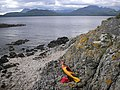 Eilean Ruairidh with the Cuillin Hills in the Background - geograph.org.uk - 486124.jpg