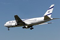 El Al B767-27EER (4X-EAF) landing at London Heathrow Airport.jpg