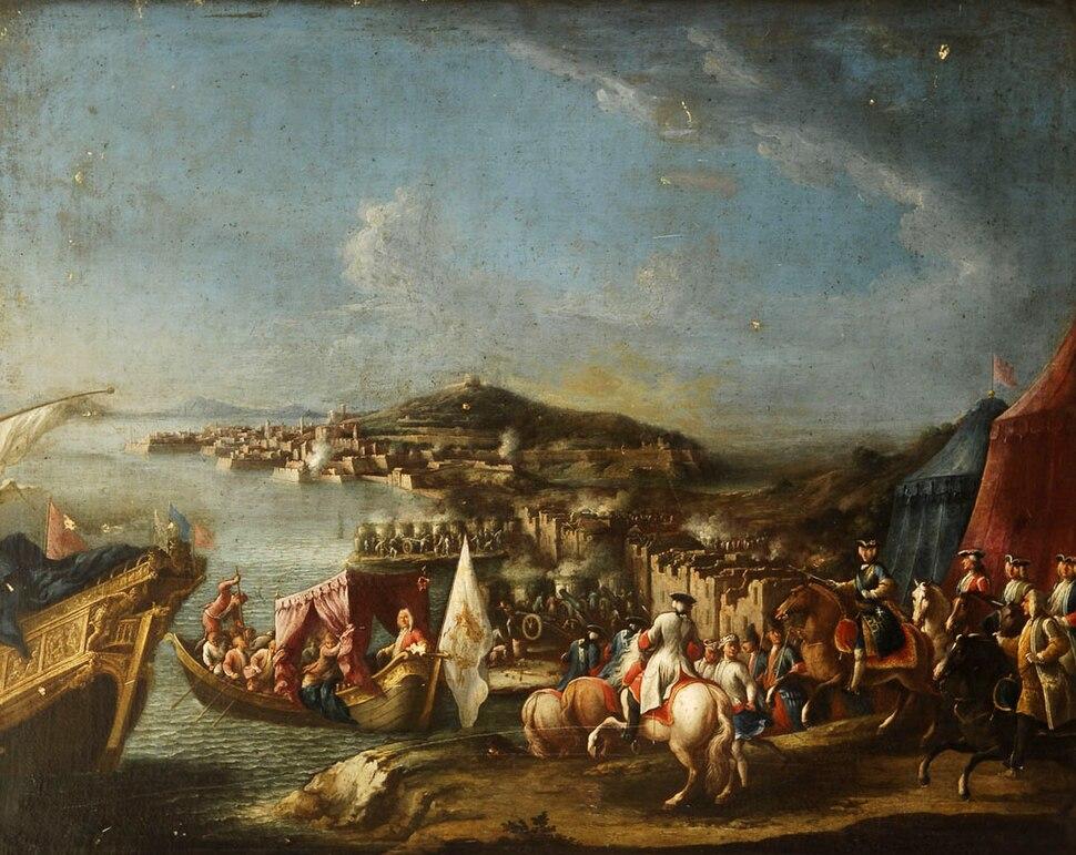 El Futuro Carlos III de España a caballo en Gaeta