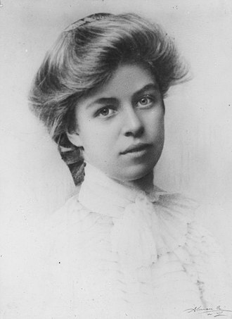 Eleanor Roosevelt - School photo of Roosevelt, 1898