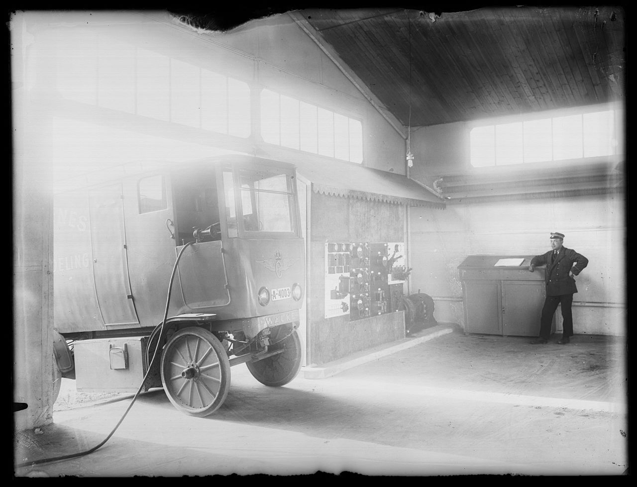 early version of an electric truck
