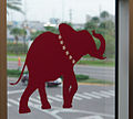 Elephants on the windows at TampaBay Social Media Command Center.jpg