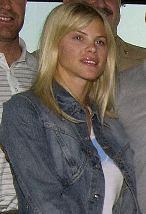 English: Swedish model Elin Nordegren, fiancee...