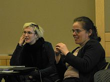 Elisabeth Bauer and Eva Tardos at Cornell.jpg