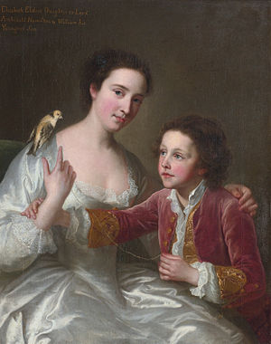 Lord Archibald Hamilton - Elizabeth Hamilton, later Countess of Warwick (1720–1800), and her brother William Hamilton (1730–1803)  (William Hoare)