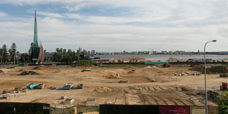 Elizabeth Quay - Construction works in November 2013