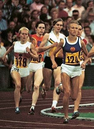 Ellen Tittel - Tittel (left) at the 1972 Olympics