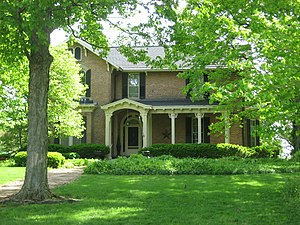 National Register of Historic Places listings in Union County, Ohio - Image: Elmwood Place farmhouse
