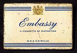 Embassy cigarettes tin, WD & HO Wills.JPG