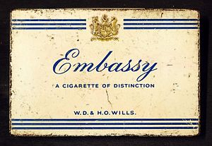 Embassy (cigarette) - Image: Embassy cigarettes tin, WD & HO Wills