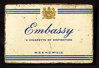 Embassy (cigarette) brand of cigarettes from Imperial Tobacco