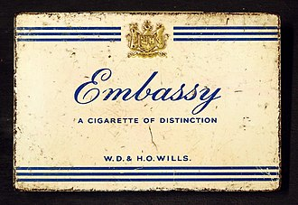 Embassy (cigarette) - Image: Embassy cigarettes tin, WD & HO Wills