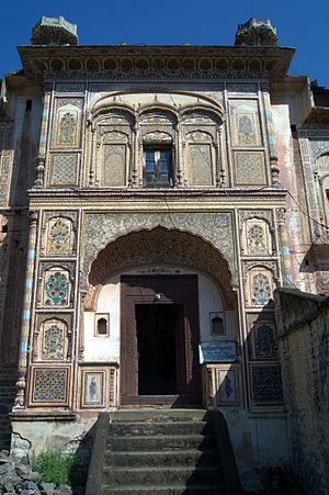 Kuthar - Entrance of palace of Kuthar Princely State, Himachal Pradesh, India