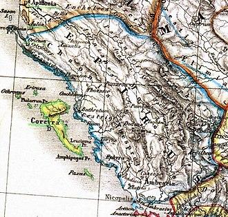 Epirus - Image: Epirus antiquus tabula