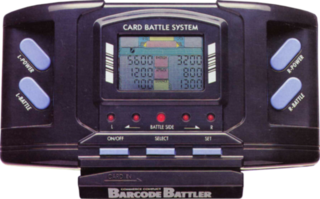 Barcode Battler handheld game console released by Epoch Co. in 1991