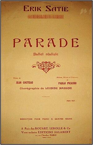 Parade (ballet) - Image: Erik Satie Parade