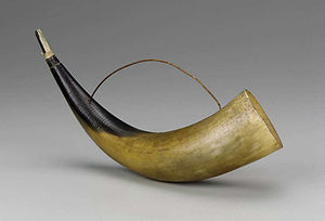 Horn (instrument) - An instrument for creating sound made from the horn of an animal