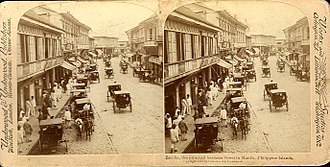 Escolta Street - An 1899 view of Escolta.