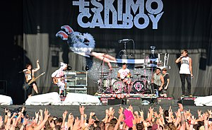 Eskimo Callboy - Eskimo Callboy playing at Reload Festival in Germany, 2015.