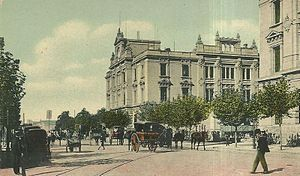 Once railway station - Image: Estación Once (ca. 1900)