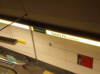 Santa Fe - Carlos Jáuregui (Buenos Aires Underground) - Image: Estación Santa Fe, línea H 01
