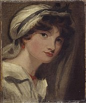 Young woman in a white bonnet