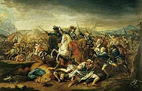 Eugene of Savoy during the Battle of Belgrade 1717.jpg