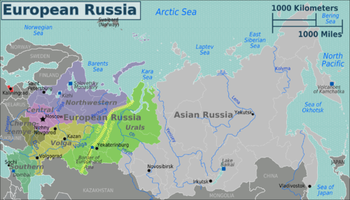 this is the corresponding map of european russia ie the regions that did not link to russia asia while tangential to our handling of the asia article