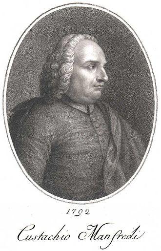Eustachio Manfredi - Eustachio Manfredi engraving dated 1792 by Francesco Rosaspina