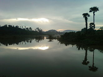 Coastal Andhra - Evening scenic view in peddipalem village of Visakhapatnam District.